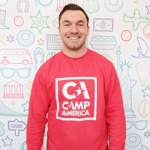 CA Red Sweater with Large Square Outline Print